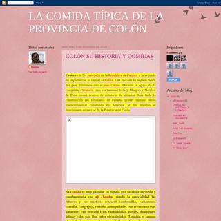 ArchiveBay.com - xenilis.blogspot.com - LA COMIDA TÍPICA DE LA PROVINCIA DE COLÓN