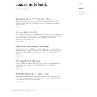 Joan's Notebook-