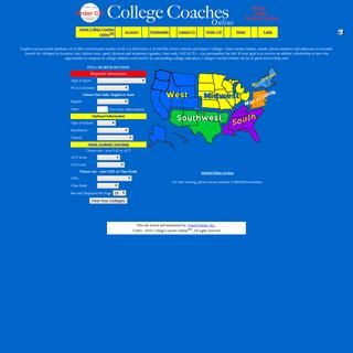 College Coaches Online - University student athlete information