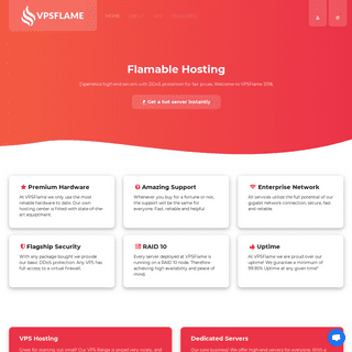 VPSFlame • Flamable Hosting