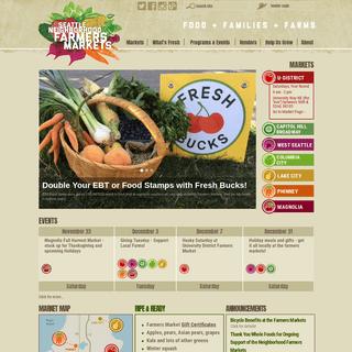Homepage — Seattle Neighborhood Farmers Markets