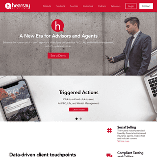 ArchiveBay.com - hearsaysocial.com - Hearsay Advisor Cloud - Triggered Advisor Actions for P&C, Life, Wealth