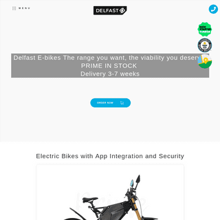Buy an electric bike with the record 236 miles on a single charge - Delfast bikes