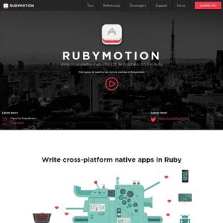Write cross-platform native apps in Ruby - RubyMotion