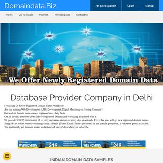 Indian & Global Domain Data Provider - Database Provider Companyin india