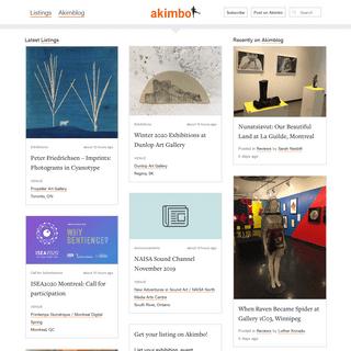 Homepage - Akimbo