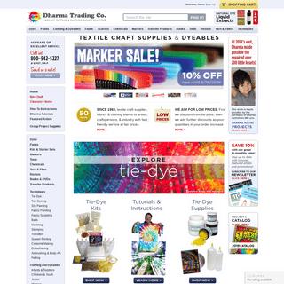 ArchiveBay.com - dharmatrading.com - Dharma Trading Co. Homepage