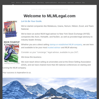 ArchiveBay.com - mlmlegal.com - MLMLegal.com - U.S. MLM Attorney and Network Marketing Industry Educator