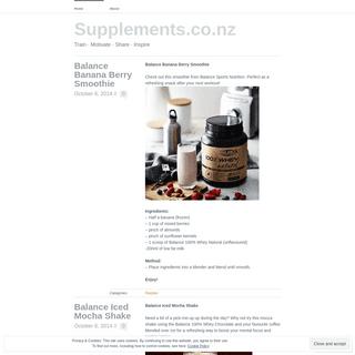 Supplements.co.nz - Train ∙ Motivate ∙ Share ∙ Inspire