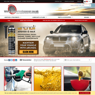 Powerenhancer - Largest Independent Stockist of Fuel & Oil Treatments