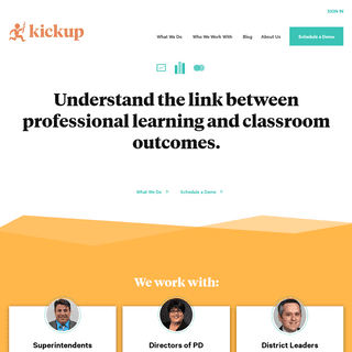 KickUp - Insights to drive teacher development