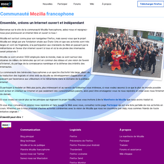 Mozilla francophone - Communauté Mozilla francophone