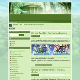 Serenes Forest - A Fire Emblem Resource