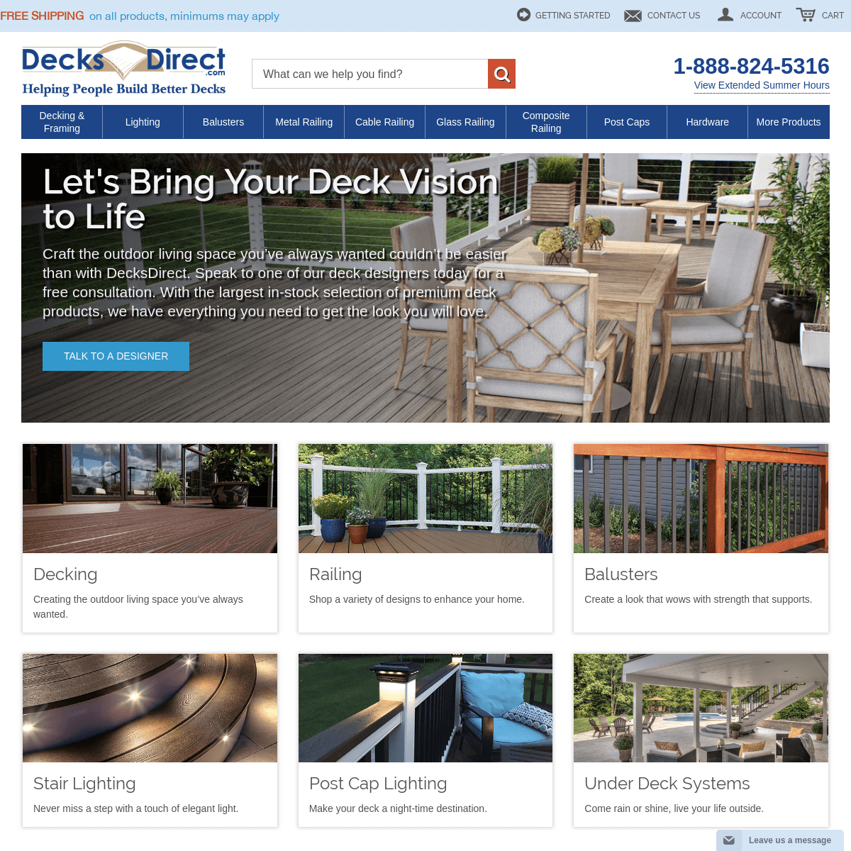 Deck Supplies - Railing, Lighting, Hardware, & More! - DecksDirect