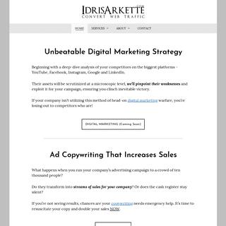 ArchiveBay.com - idrisarkette.com - Home - Idris Arkette ⭐ Copywriter - SEO - Web Designer (Singapore)