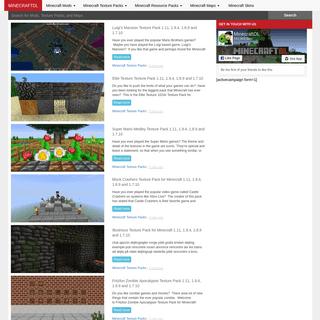 Minecraft Mods Texture Packs Download Skins Maps