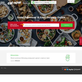 Order Take-Away and Home Food Delivery Online - eatnow.com.au