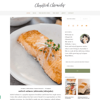 Authentic, Traditional & Contemporary Japanese Recipes - Chopstick Chronicles