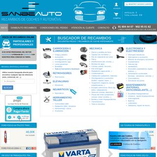 Recambios de automovil via web - Comprar piezas y recambios para coche - Sanbeauto