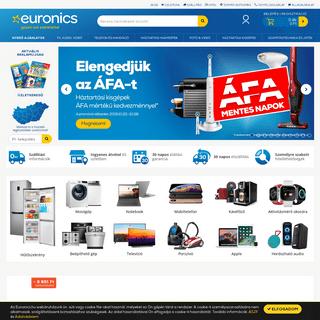 Kezdőlap - Euronics Műszaki Webáruház