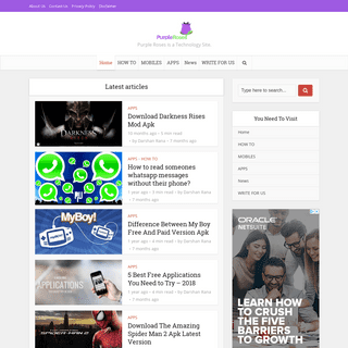 Purple Roses - Purple Roses is a Technology Site.