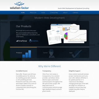 Solution Factor- Austin Web Development and Database Consulting