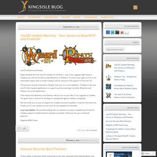 KingsIsle Blog - Providing Family Friendly Online Entertainment