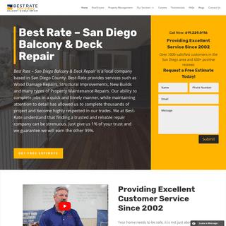 Best Rate - San Diego Balcony & Deck Repair