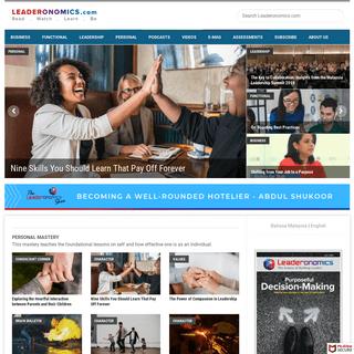 Leadership Articles and Videos - Leaderonomics.com