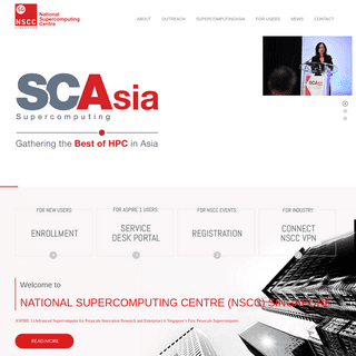 NSCC – National Supercomputing Centre Singapore