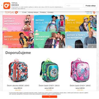 topgal.cz - aktovky pro prvňáky, školní batohy a pouzdra, batohy pro studenty