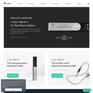 Hardware Wallet - State-of-the-art security for crypto assets - Ledger