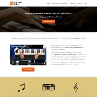 Play Piano By-Ear! Unlock the Secret of Rhythmic Patterns.
