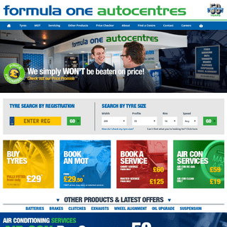 Tyres, MOT, Servicing, Batteries & Exhausts - F1 Autocentres