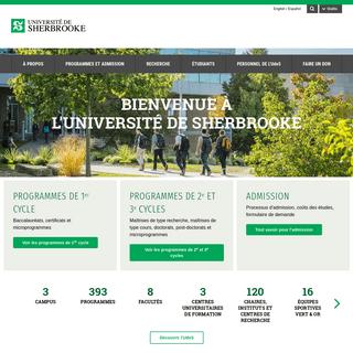 Accueil - Université de Sherbrooke (Québec, Canada)