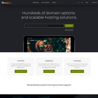 Rebel.com - Domain name registrar, website hosting, vps, web security - Rebel