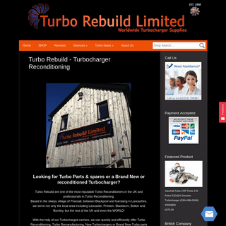 New & Reconditioned Turbochargers & Turbo Parts