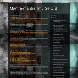 Mantra-mantra ilmu GHOIB