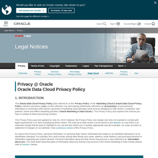 ArchiveBay.com - emailworldmarket.com - Oracle Marketing Cloud and Data Cloud Privacy Policy - Oracle