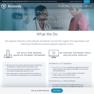 Remedy Partners – The episodes of care company