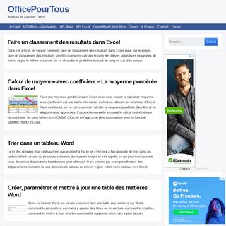 Tutoriels et astuces Word, Excel, MS Office et OpenOffice-LibreOffice