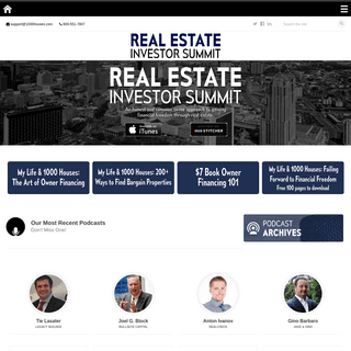 Real Estate Investor Summit Podcast - Hosted by Mitch Stephen