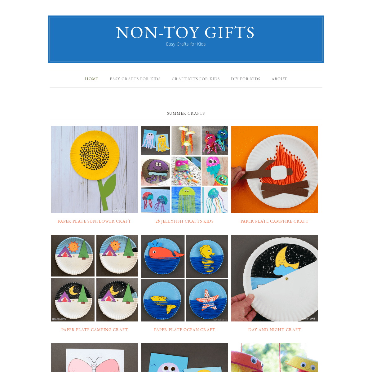 Easy Kids Crafts and Activities I Non-Toy Gifts