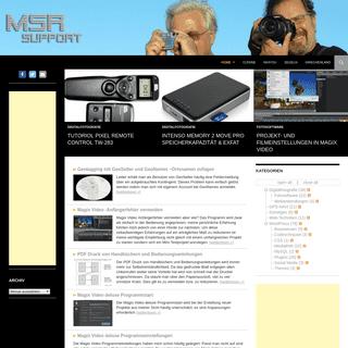 MSR-SUPPORT - WordPress, GPS und Navi, Digitalfotografie, Fotosoftware