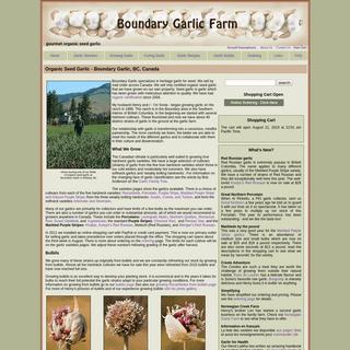 ArchiveBay.com - garlicfarm.ca - Organic Seed Garlic - Boundary Garlic, BC, Canada
