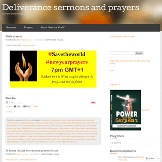 Deliverance sermons and prayers