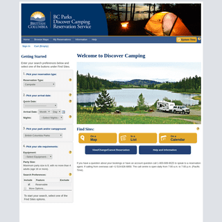 ArchiveBay.com - discovercamping.ca - Home - Discover Camping Reservation System