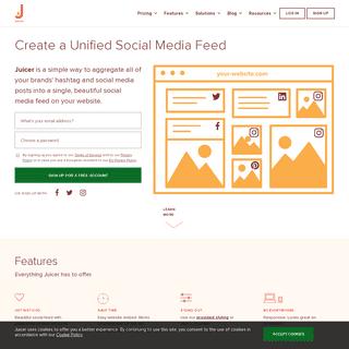 Social Media Feeds for your website. - Juicer