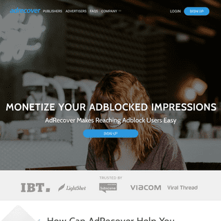 AdRecover - Monetize your Adblocked Inventory!
