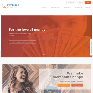 Welcome - PayTrace - gateway to happy